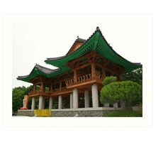 Bongeunsa Temple in Seoul Art Print