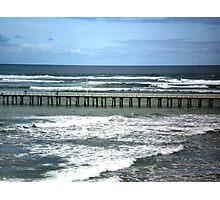 Southern Ocean meets Port Phillip Bay, Queenscliff,  Vic. Photographic Print