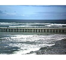 Southern Ocean meets Port Phillip Bay, Queenscliff,  Vic. Photographic Print