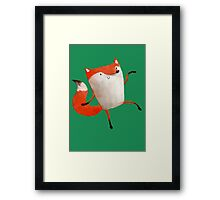 Happy Dancing Fox Framed Print