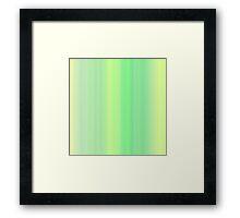 Green-Yellow Summer Stripes Framed Print