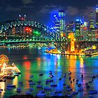 City Of Light - Sydney Harbour Fantasy (25 Exposure HDR Pano)- The HDR Experience by Philip Johnson