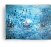 Reedy Reflections Metal Print
