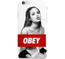 Angelina Jolie Obey iPhone Case/Skin