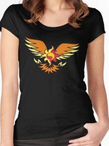 Sunset Shimmer phoenix cutie mark Women's Fitted Scoop T-Shirt