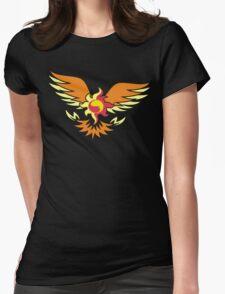 Sunset Shimmer phoenix cutie mark Womens Fitted T-Shirt