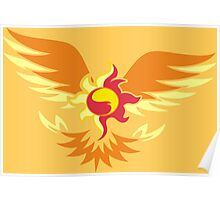 Sunset Shimmer phoenix cutie mark Poster