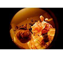 Louie & Flowers Photographic Print