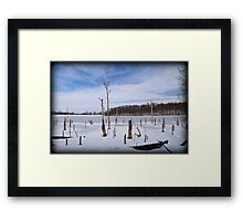Cove Corner Winter Framed Print
