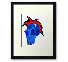 Funky Skull Framed Print