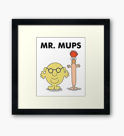 Mr. Mups Framed Print