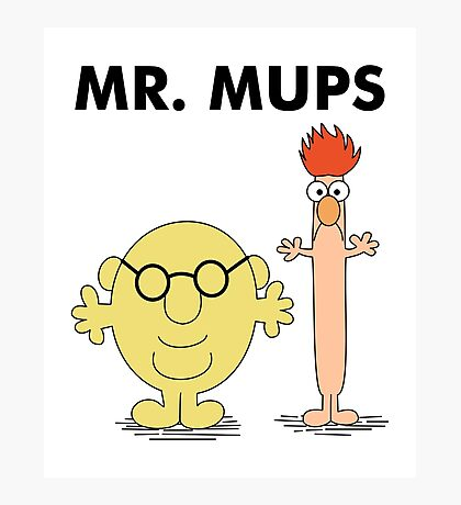 Mr. Mups Photographic Print