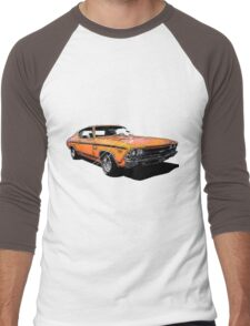 Pinup Girl on Chevy Chevelle Men's Baseball ¾ T-Shirt