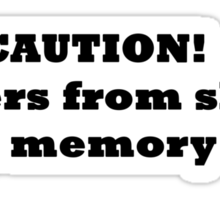 Short term memory Sticker