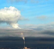 A cloud is born - Melbourne power station by Lucas D'Arcy