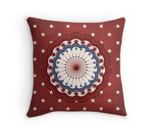 Red, White, and Blue Americana Design Throw Pillow