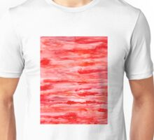 Abstract Watercolor Red Unisex T-Shirt