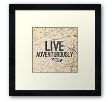 Live Adventurously  Framed Print