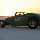 Blown Roadster at sunrise Bonneville 2008 by Ian Nichols
