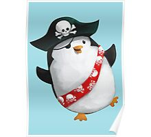 Cute Pirate Penguin Poster