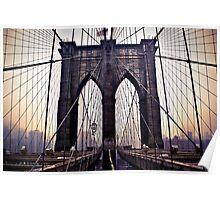 Gloomy Brooklyn Bridge Poster