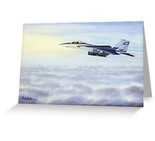F-15 Eagle Aircraft Greeting Card