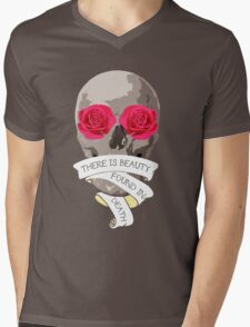 There is Beauty found in Death Mens V-Neck T-Shirt