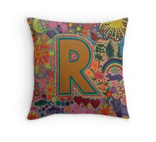 Initial R Throw Pillow