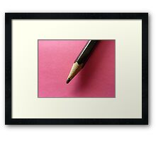 Pencil with Pink Framed Print