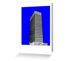 Sheffield University Arts Tower- Blue Greeting Card