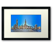 360 degree view ( MUST VIEW INTERACTIVE VERSION !  ) of the Philadelphia's Center City Framed Print