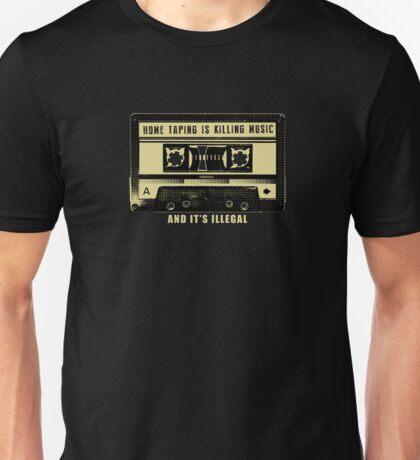 Home Taping Is Killing Music t shirt Unisex T-Shirt