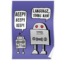 Beeping Robot Poster