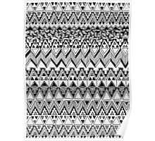 Black and White Tribal Pattern Poster