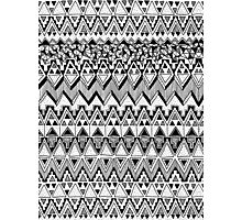 Black and White Tribal Pattern Photographic Print