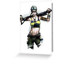 APB Reloaded Cool Enforcer Girl 2 Greeting Card