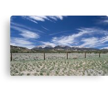 Snow On Mountain Peaks Canvas Print