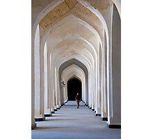 Madrasah interior arches in Bukhara, Uzbekistan Photographic Print