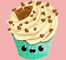 Cute Kawaii Vanilla Cupcake by colonelle