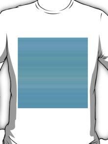 Blue-Cyan Sea Summer Stripes T-Shirt