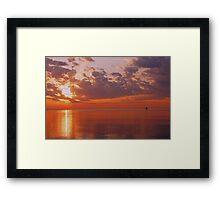Red Sky Morning Framed Print