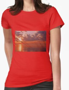 Red Sky Morning Womens Fitted T-Shirt