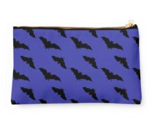 Black bats on a dark sky Studio Pouch