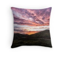 Sunset Fireworks Over Marin Throw Pillow