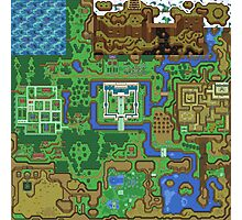 The Legend of Zelda: A Link to the Past Map Photographic Print