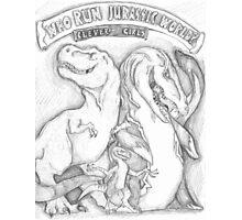 Run the Jurassic World Photographic Print