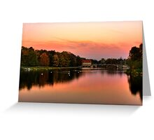 Sunset in autumn Greeting Card