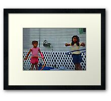 Hoop dreams, motor oil and tarps  ( Trailer Park America Series ) Framed Print