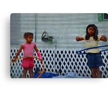 Hoop dreams, motor oil and tarps  ( Trailer Park America Series ) Canvas Print