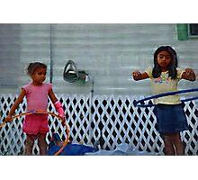 Hoop dreams, motor oil and tarps  ( Trailer Park America Series ) Photographic Print